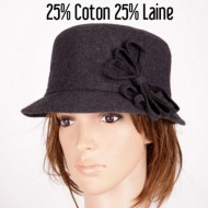 CHAPEAU CLOCHE ANTHRACITE